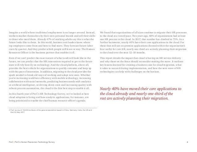 PricewaterhouseCoopers HR Technology Survey Slide 3
