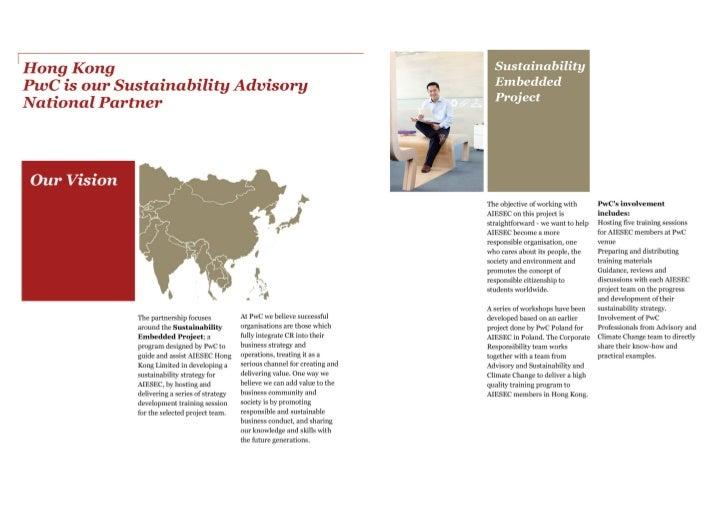 PwC and AIESEC Hong Kong Partnership FY 2012