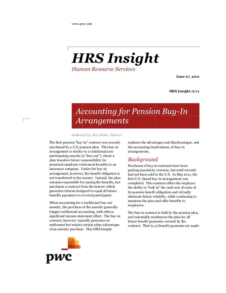 www.pwc.com               HRS Insight               Human Resource Services                                               ...