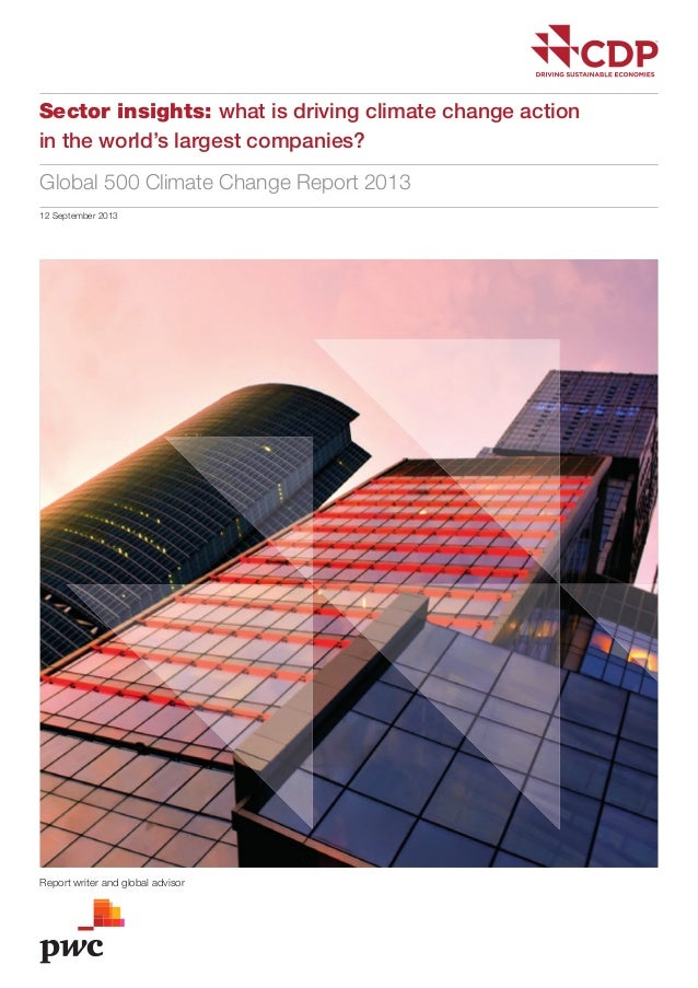 Rapport PwC CDP Global 500 Climate Change