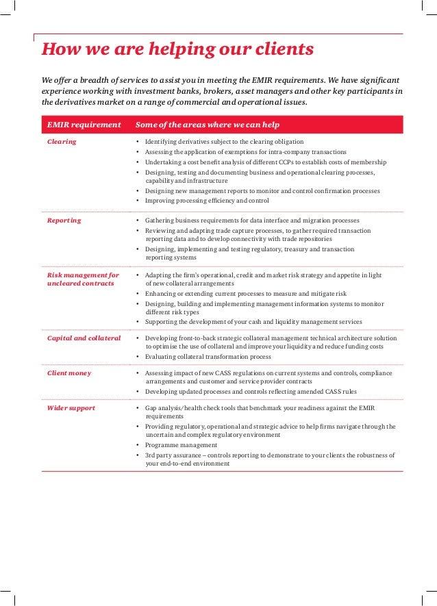 Etude Emir European Market Infrastructure Regulation