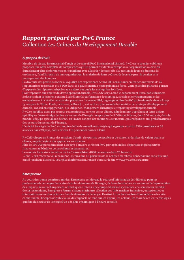 Etude PwC sur le facteur carbone (2012) Slide 2