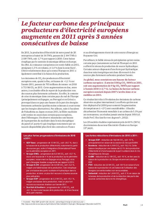 Etude PwC sur le facteur carbone (2012) Slide 3