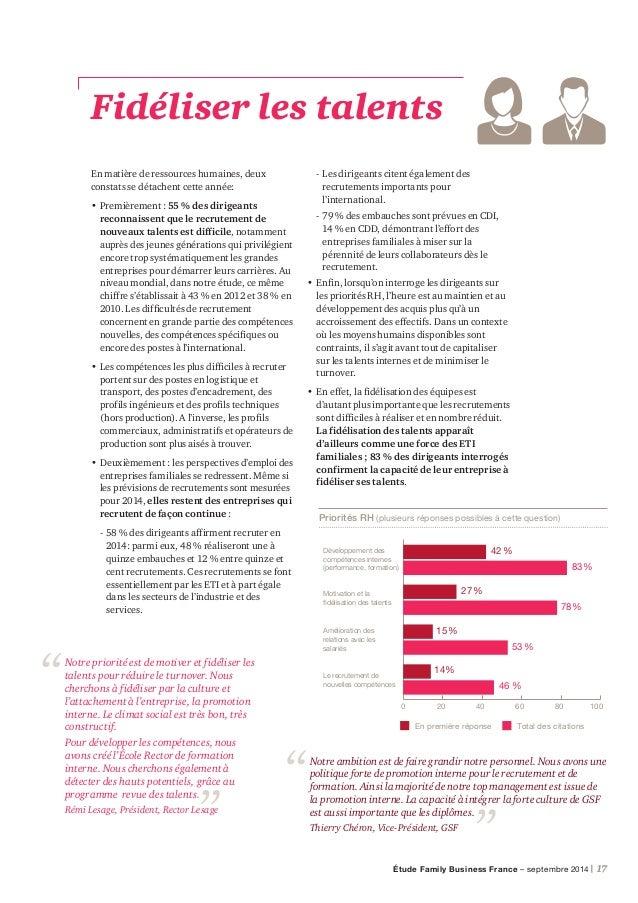 18 | PwC Faire évoluer la gouvernance Sur ce sujet de la gouvernance des entreprises familiales, les mutations varient sel...