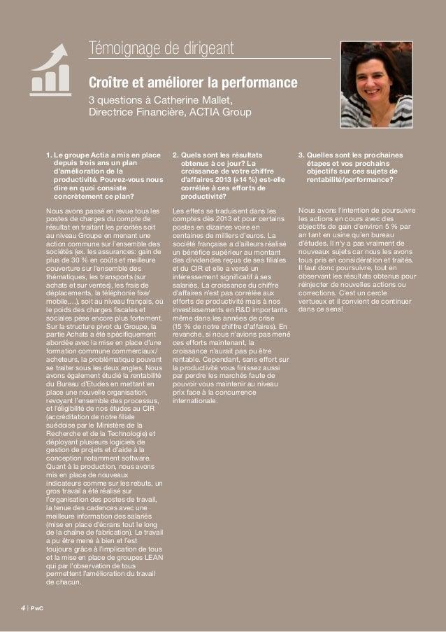 Étude Family Business France – septembre 2014 | 5 Croître et améliorer la performance On lit souvent que les entreprises f...