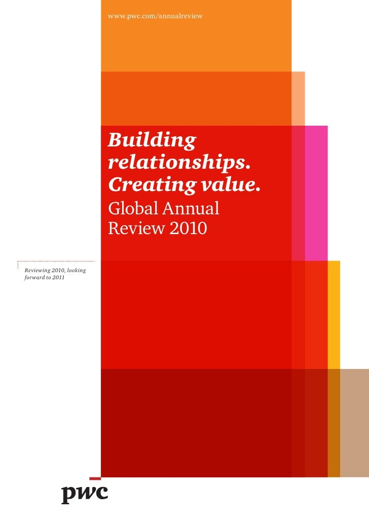 www.pwc.com/annualreview                          Building                          relationships.                        ...