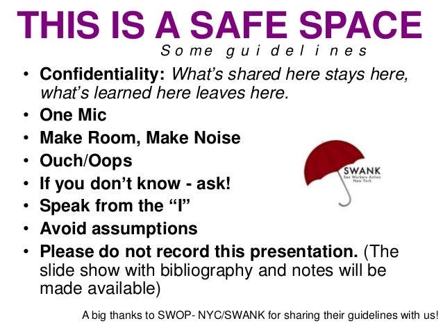 Guidelines for safe sex