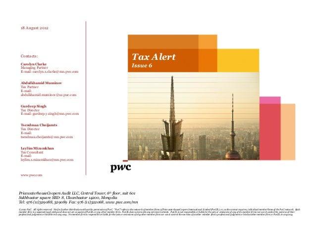 Pwc tax forexpatsinmongolia