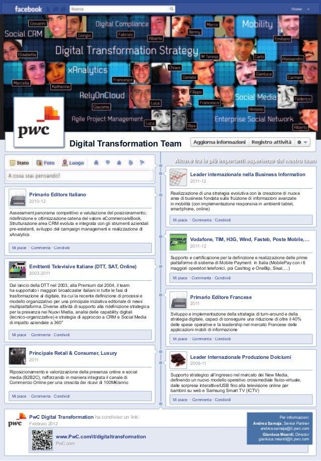 il volo 12 Digital Transformation Team Assessment panorama competitivo e valutazione del posizionamento; ridefinizione e ot...