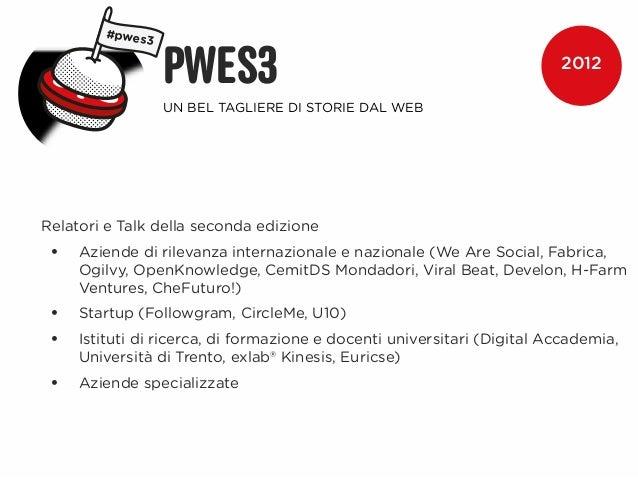 #pwes3                 PWES3                                                   2012                 UN BEL TAGLIERE DI STO...
