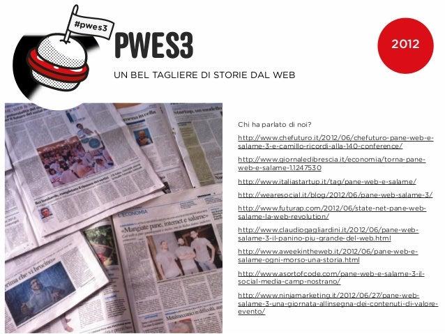 #pwes3         PWES3                                                            2012         UN BEL TAGLIERE DI STORIE DAL...