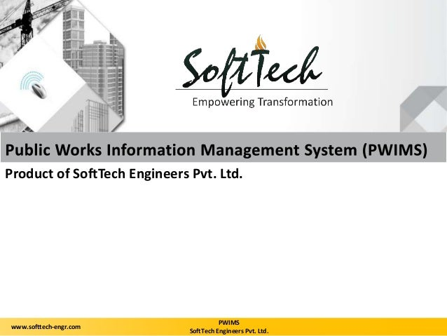 Product of SoftTech Engineers Pvt. Ltd.  PWIMS  SoftTech Engineers Pvt. Ltd.  www.softtech-engr.com