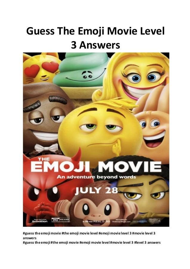 Emoji Movie Guess The Emoji Movie Level 3 Answers Free Full Movies