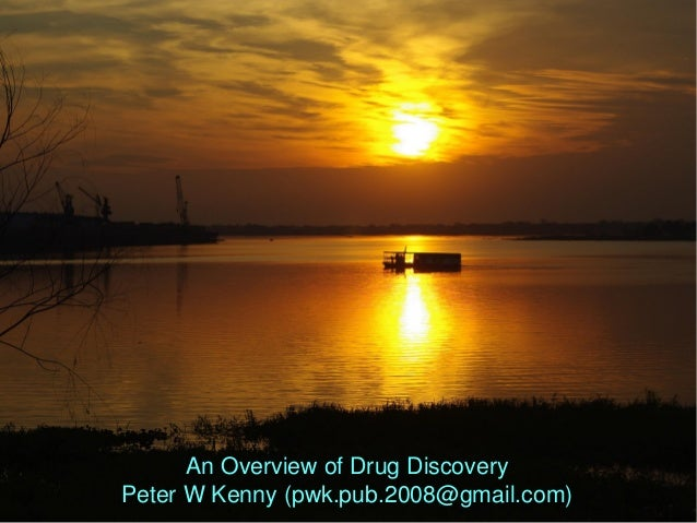 An Overview of Drug Discovery Peter W Kenny (pwk.pub.2008@gmail.com)