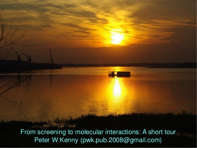 From screening to molecular interactions: A short tour Peter W Kenny (pwk.pub.2008@gmail.com)