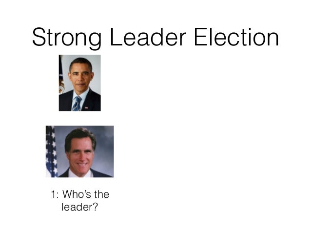 Strong Leader Election 1: Who's the leader?