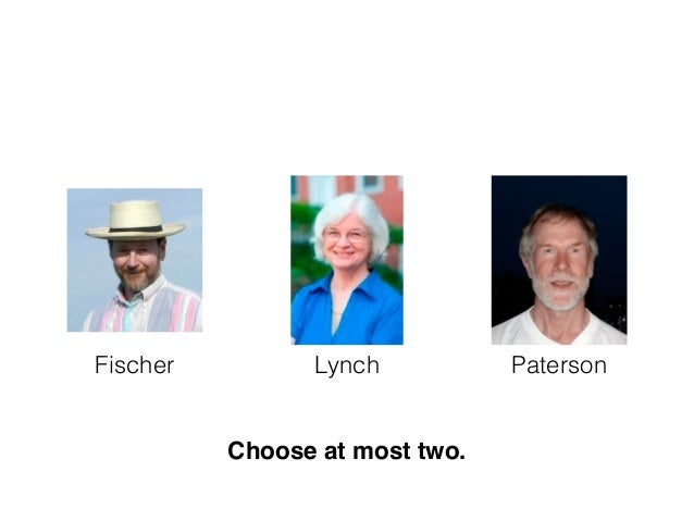 Fischer Lynch Paterson Choose at most two.