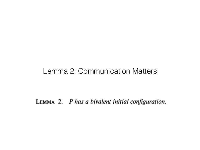 Lemma 2: Communication Matters