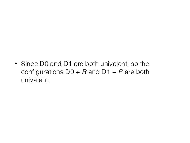 • Since D0 and D1 are both univalent, so the configurations D0 + R and D1 + R are both univalent.
