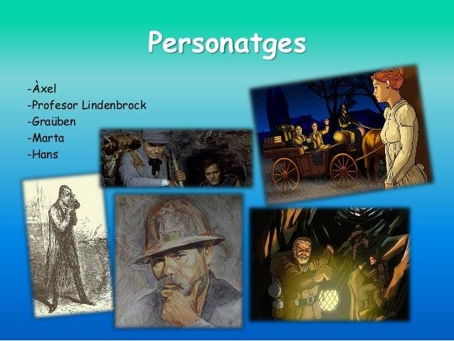 Personatges -Àxel -Profesor Lindenbrock -Graüben -Marta -Hans