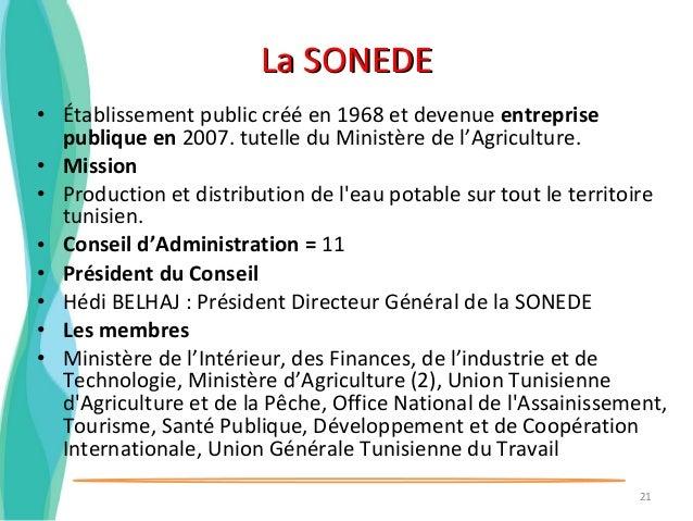 L 39 eau en tunisie ressources et gouvernance - Office national de l electricite et de l eau potable ...