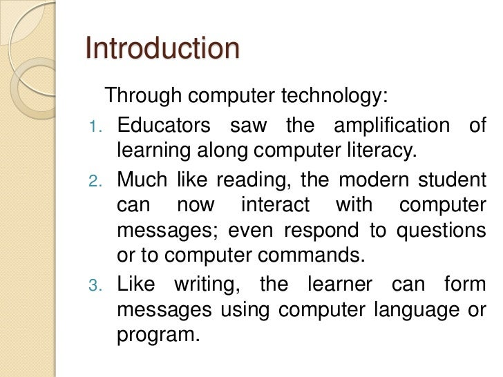 computers as information and communication technology 3 introduction through computer