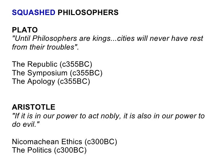 a comparison of aristotles the nicomachean ethics and the republic by plato Dominic scott compares the 'republic' and 'nicomachean ethics' from a methodological perspective he argues that plato and aristotle distinguish similar levels of argument in the defence of justice, and that they both follow the same approach: plato because he thinks it will suffice, aristotle because he thinks there is no need to go beyond it.