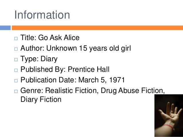 Go Ask Alice Book Talk