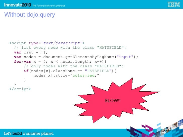 Using Dojo Javascript Framework with Rational HATS