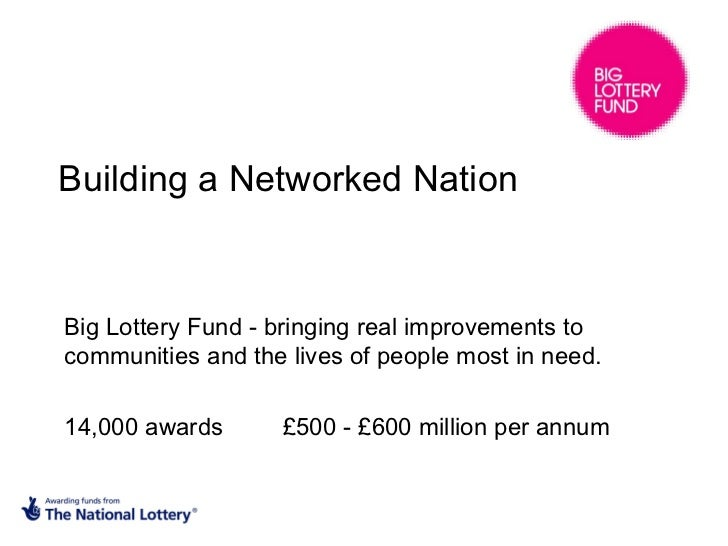 Building a Networked Nation Big Lottery Fund - bringing real improvements to communities and the lives of people most in n...