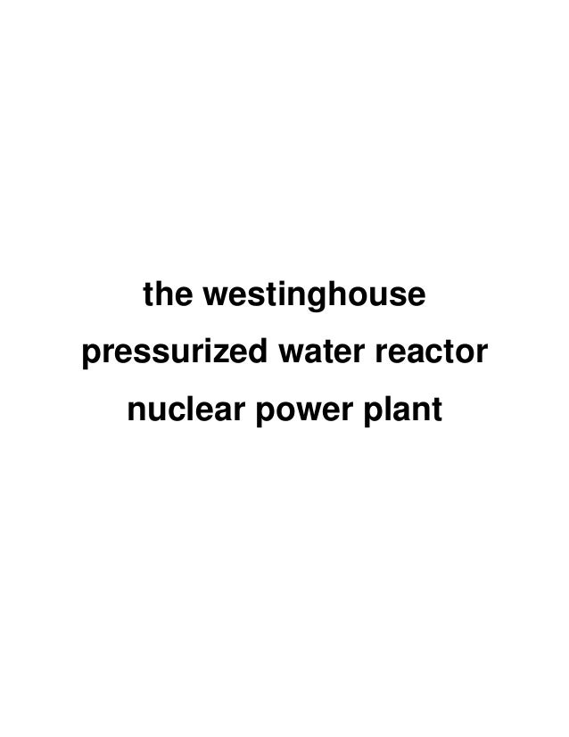 The westinghouse pressurized water reactor nuclear power plant