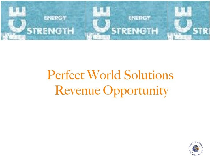 Perfect World Solutions  Revenue Opportunity