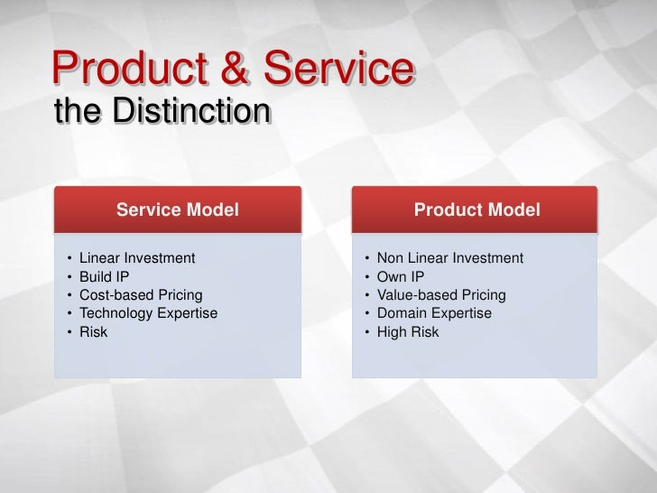 As Services Products : Point counterpoint services vs product marketing sumit