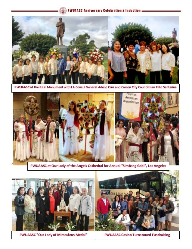 """PWUAASC Anniversary Celebration & Induction r PWUAASC at Our Lady of the Angels Cathedral for Annual """"Simbang Gabi"""", Los A..."""