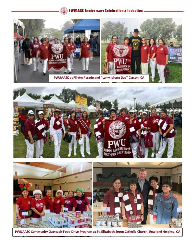 """PWUAASC Anniversary Celebration & Induction PWUAASC at Fil-Am Parade and """"Larry Itliong Day"""" Carson, CA PWUAASC Community ..."""