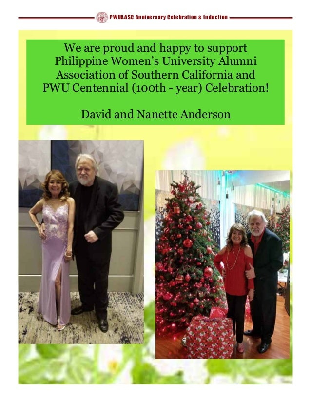 PWUAASC Anniversary Celebration & Induction We are proud and happy to support Philippine Women's University Alumni Associa...