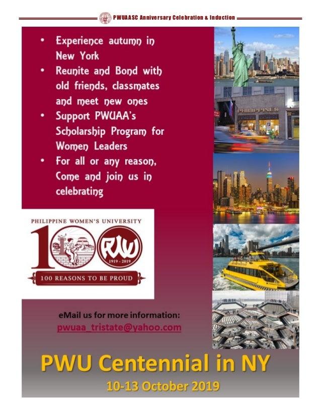 PWUAASC Anniversary Celebration & Induction