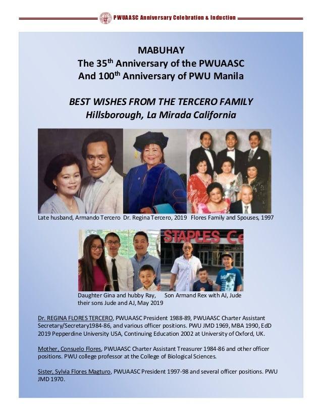 PWUAASC Anniversary Celebration & Induction MABUHAY The 35th Anniversary of the PWUAASC And 100th Anniversary of PWU Manil...