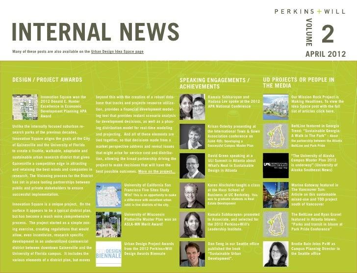 P+W Urban Design Newsletter 2012 April