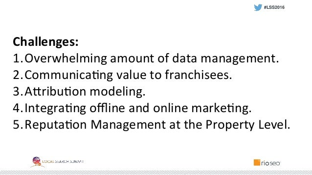 Wyndham Hotel Group: How Brands Can Garner Valuable Metrics from Local Analytics #LSS2016 Slide 2