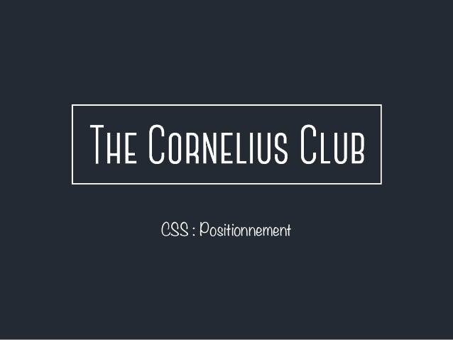 CSS : Positionnement