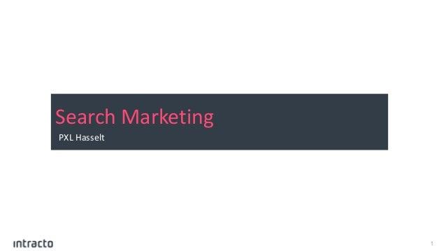 1 Search Marketing PXL Hasselt