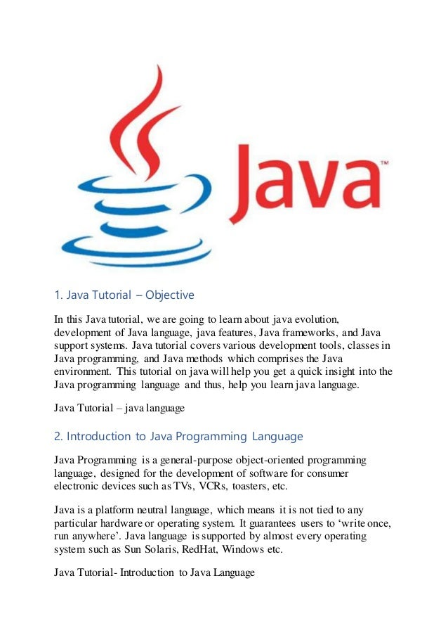 Java Tutorial to Learn Java Programming