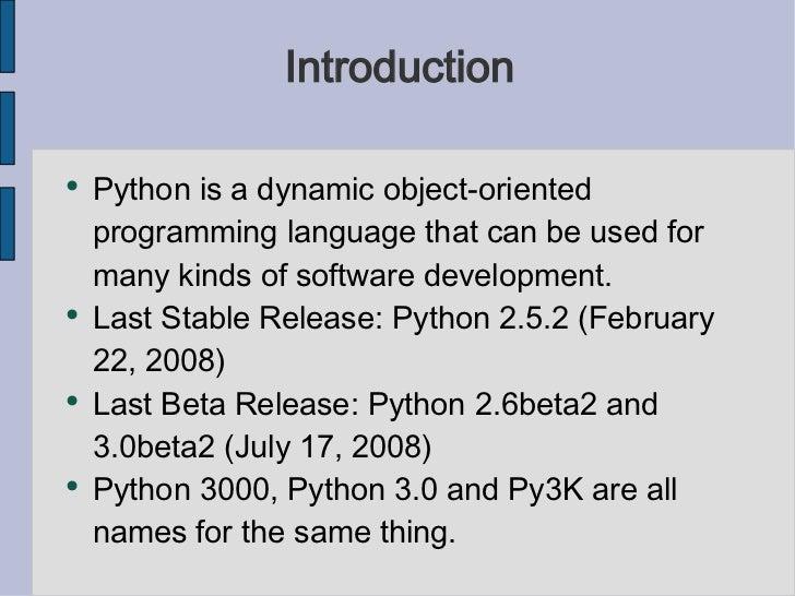 Python 3000 Slide 3