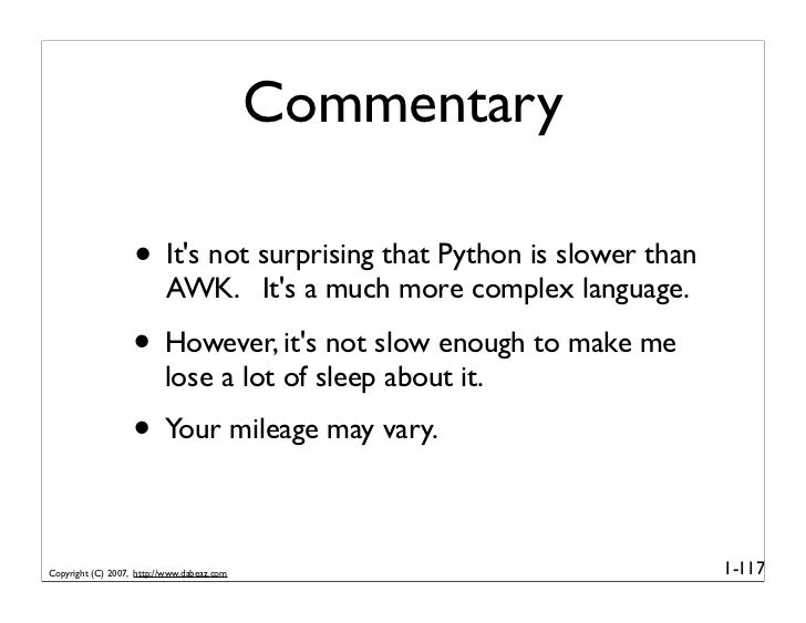 Python in Action (Part 1)