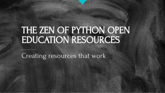 The Zen of Python Open Education Resources
