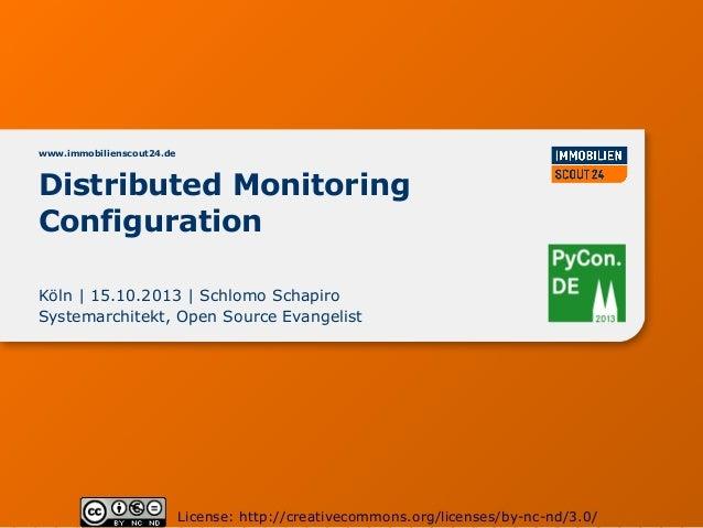 www.immobilienscout24.de  Distributed Monitoring Configuration Köln | 15.10.2013 | Schlomo Schapiro Systemarchitekt, Open ...