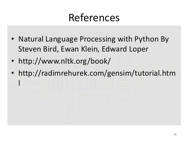 Natural Language Processing and Python