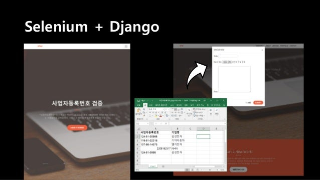 Selenium + Django