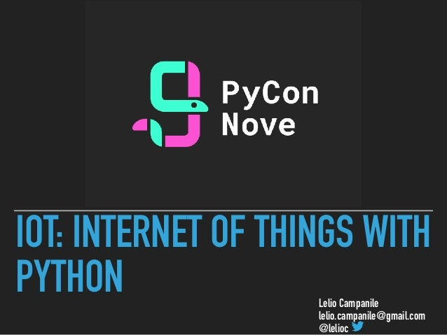 IoT: Internet of Things with Python
